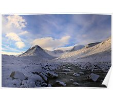 snow-covered mountains Poster