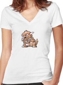 Kangaskhan evolution  Women's Fitted V-Neck T-Shirt