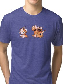 Goldeen evolution  Tri-blend T-Shirt