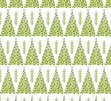 Winter Trees - Green by Andrea Lauren  by Andrea Lauren