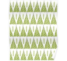 Winter Trees - Green by Andrea Lauren  Poster
