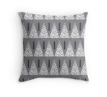 Winter Trees - Grey by Andrea Lauren  Throw Pillow
