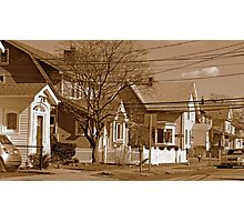 Typical homes in Valley Stream-Sepia Photographic Print