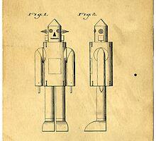 Mechanical Man Patent by Edward Fielding