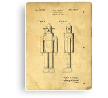Mechanical Man Patent Canvas Print