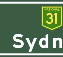 Sydney, Road Sign, Australia  Sticker