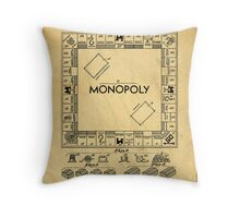 Original Patent for Monopoly Board Game 1936 Throw Pillow