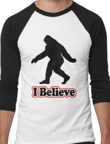 Sasquatch Big Foot T-Shirt Men's Baseball ¾ T-Shirt