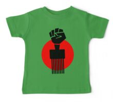 Black Fist Power T-Shirt Baby Tee