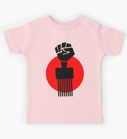 Black Fist Power T-Shirt Kids Tee