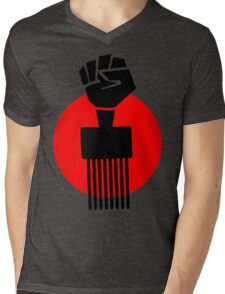 Black Fist Power T-Shirt Mens V-Neck T-Shirt