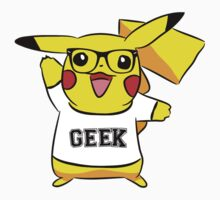 Geek Out With Pikachu. by Chloe Grech