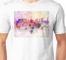 Tokyo skyline in watercolor background Unisex T-Shirt