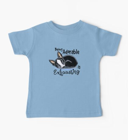 Boston Terrier Being Adorable Baby Tee