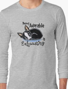 Boston Terrier Being Adorable Long Sleeve T-Shirt
