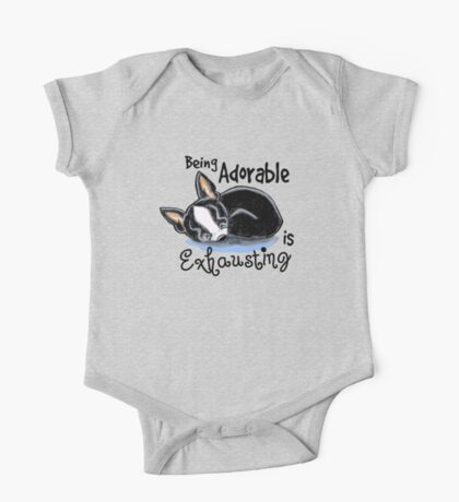 Boston Terrier Being Adorable One Piece - Short Sleeve