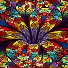 Stained Glass Bloom by wolfepaw