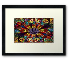 Stained Glass Bloom Framed Print