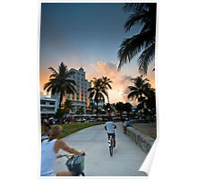 South Beach Walk Poster
