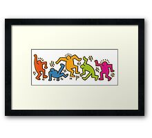 Keith Haring Dancing Figures art Framed Print
