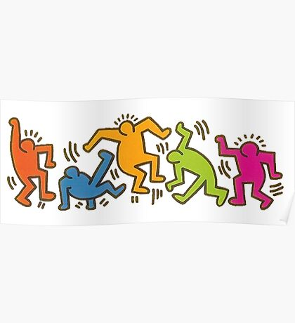 Keith Haring Dancing Figures art Poster