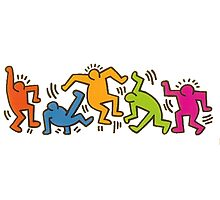 Keith Haring Dancing Figures art Photographic Print