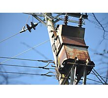Vintage weathered electrical box Photographic Print