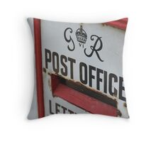 Vintage Post Office letterbox Throw Pillow