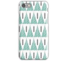 Winter Trees - White and Turquoise iPhone Case/Skin