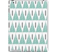 Winter Trees - White and Turquoise iPad Case/Skin