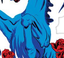 Save Bluecifer Red Rose Sticker