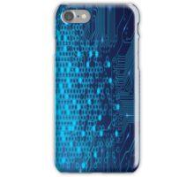 Blue Circuits iPhone Case/Skin