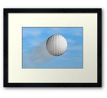 Golf ball Framed Print