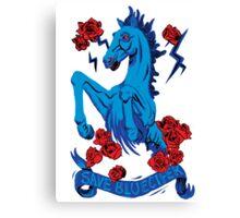 Save Bluecifer Red Rose Canvas Print
