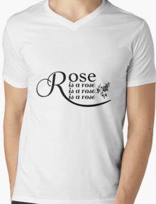 Rose is a Rose is a Rose is a Rose Mens V-Neck T-Shirt