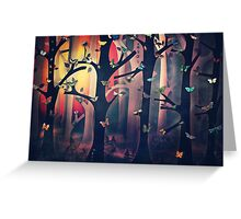 The Woods at Sunset Greeting Card