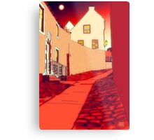 Dysart: Scottish Town digital drawing Metal Print