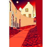 Dysart: Scottish Town digital drawing Photographic Print