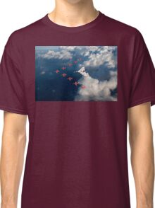 Red Arrows and Avro Vulcan above clouds Classic T-Shirt