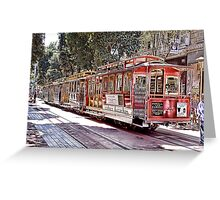 Powell and Hyde Sts Greeting Card