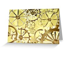 Clockwork steampunk Greeting Card