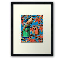 Cardinals In Fall Framed Print