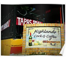 Highlands Cork and Coffee Poster