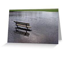 Sit and Paddle a While. Greeting Card