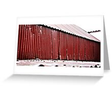 Rusting Corrugated Iron Roof Greeting Card