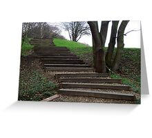 Stairway to the Fifteenth Tee. Greeting Card