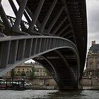 Passerelle Léopold Sédar Senghor bridge by Cédric Charbonnel