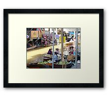 Bangkok Floating Market Photograph Framed Print
