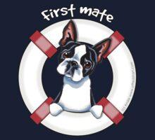 Boston Terrier :: First Mate Kids Tee