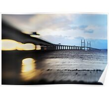 Severn Crossing Lensbaby 02 - Severn Beach Poster